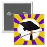 Casquillo de la graduación y diploma (1) púrpuras  pin