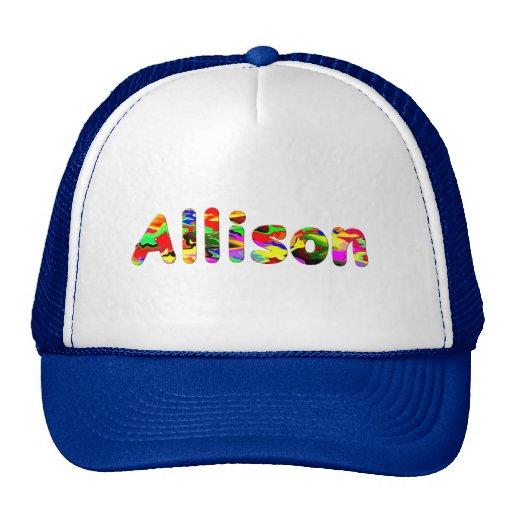 Casquillo de la malla de Allison Gorro