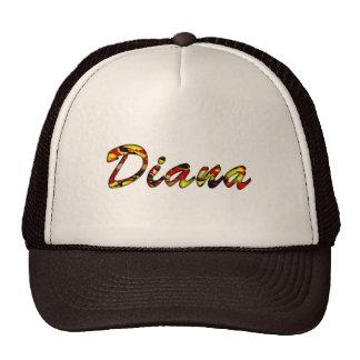 Casquillo de la malla de Diana Gorros Bordados