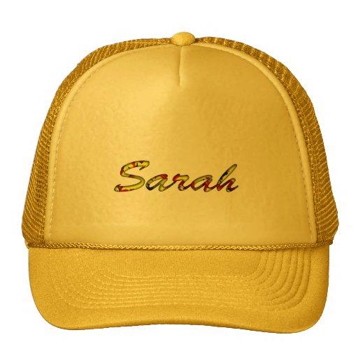 Casquillo de la malla para Sarah en amarillo Gorros