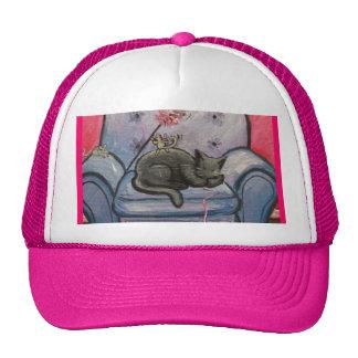 Casquillo de la siesta del gato gorros