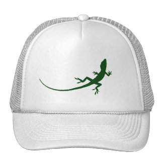 Casquillo de la silueta del lagarto verde gorros bordados