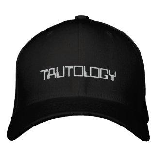 Casquillo de la tautología gorras de béisbol bordadas