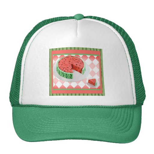 Casquillo de la torta de la sandía gorras de camionero