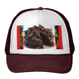 Casquillo de la torta de las virutas del chocolate gorros bordados