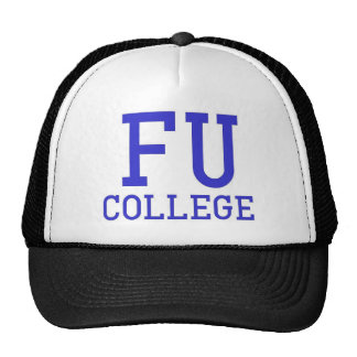 Casquillo de la universidad de FU Gorros