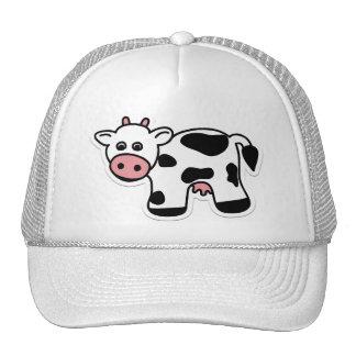 Casquillo de la vaca del dibujo animado gorros bordados