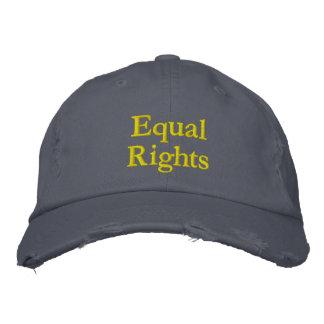 """Casquillo de las """"derechas iguales"""" gorra bordada"""