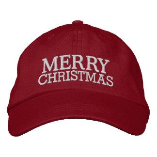 Casquillo de las Felices Navidad por SRF Gorra De Beisbol