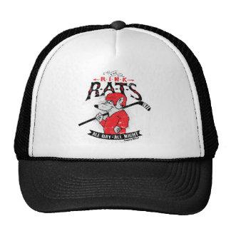 Casquillo de las ratas de la pista del hockey gorros