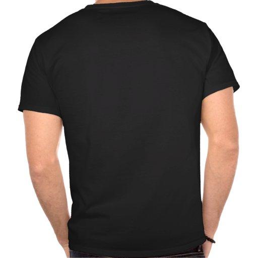 Casquillo de lente del negro camiseta