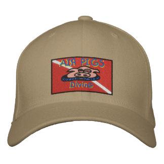 Casquillo de los cerdos del aire gorras de beisbol bordadas