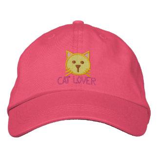 Casquillo de los chicas del AMANTE del CAT Gorra Bordada