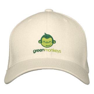 Casquillo de los monos verdes gorra bordada