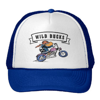 Casquillo de los motoristas de los patos salvajes gorras