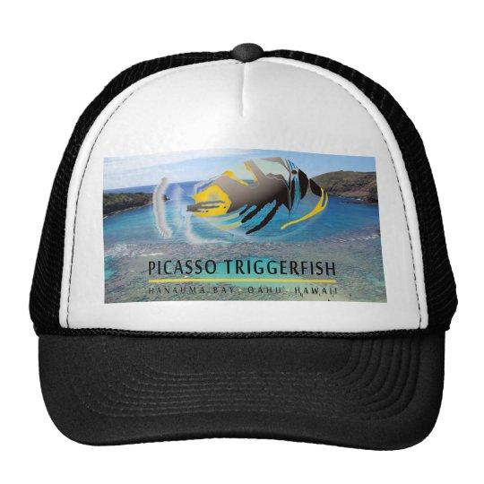 Casquillo de los pescados del disparador de Hawaii Gorras De Camionero