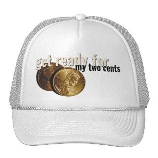 "casquillo de ""mis dos centavos"" gorras"