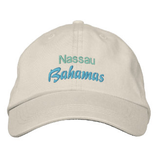 Casquillo de NASSAU, BAHAMAS Gorras De Beisbol Bordadas