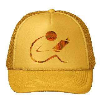 Casquillo de oro del lector gorras de camionero