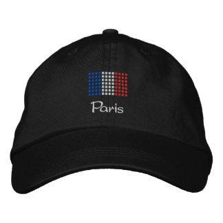 Casquillo de París - gorra francés de la bandera Gorra De Béisbol Bordada
