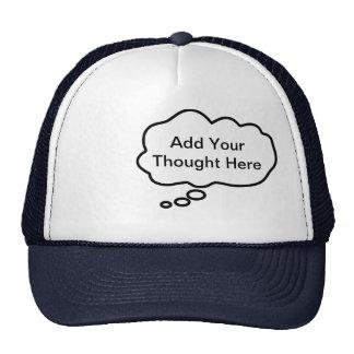 Casquillo de pensamiento - añada su pensamiento de gorros