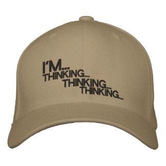 Casquillo de pensamiento gorras bordadas