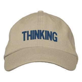 Casquillo de pensamiento gorra bordada