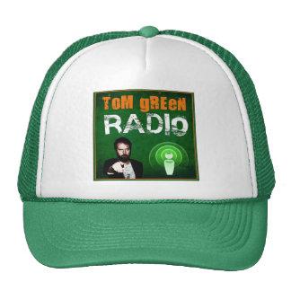 Casquillo de radio verde de Tom Gorros Bordados