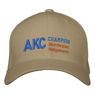 Casquillo de Rhodesian Ridgeback del campeón de AK Gorra De Béisbol Bordada
