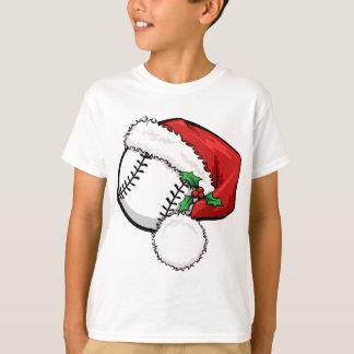 Casquillo de Santa del béisbol Remeras