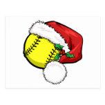 Casquillo de Santa del softball Postales