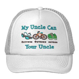 Casquillo de tío Outswim Outbike Outrun Triathlon Gorras De Camionero