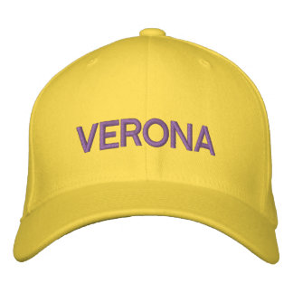 Casquillo de Verona Gorra De Béisbol Bordada