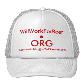 casquillo de WillWorkForBeer.org Gorros Bordados