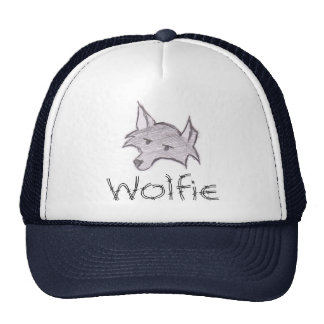 Casquillo de Wolfie del lobo de Aspie Gorros Bordados