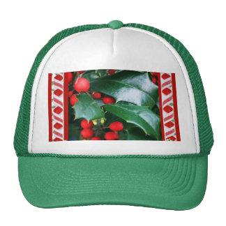 Casquillo del acebo del navidad gorra
