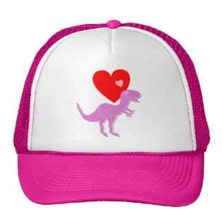 Casquillo del amor del dinosaurio de T-Rex Gorros