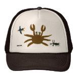 Casquillo del arte: Cangrejo, insecto, pájaro. Bro Gorro De Camionero