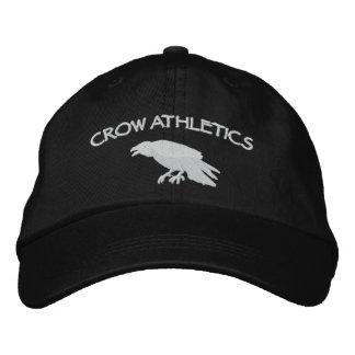 Casquillo del atletismo del cuervo gorra de béisbol bordada