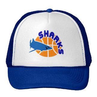 Casquillo del baloncesto de los tiburones gorras de camionero