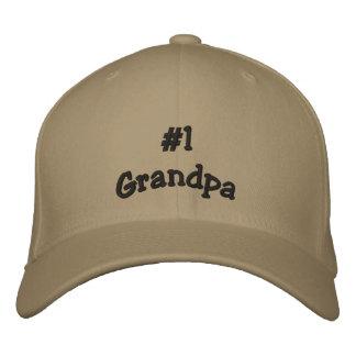 Casquillo del basball del abuelo del número 1 gorra de béisbol