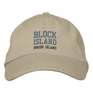 Casquillo del BLOCK ISLAND 2 Gorras Bordadas