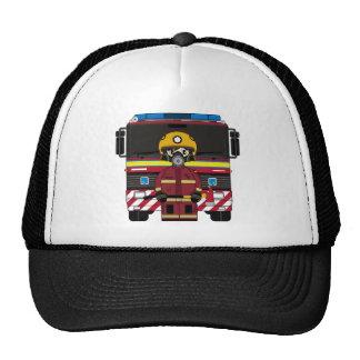 Casquillo del bombero y de bomberos del coche gorra