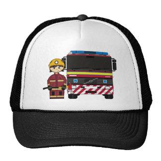 Casquillo del bombero y de bomberos del coche gorros