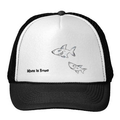 Casquillo del bosquejo del tiburón gorra