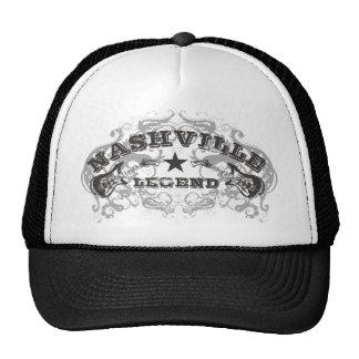 Casquillo del camionero de la leyenda de Nashville Gorros
