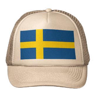 Casquillo del camionero - Suecia - bandera Gorras De Camionero