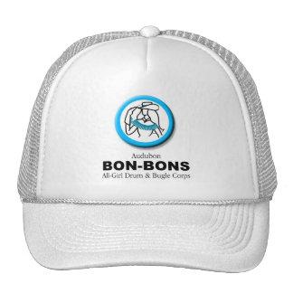 Casquillo del caramelo en blanco con el logotipo gorra