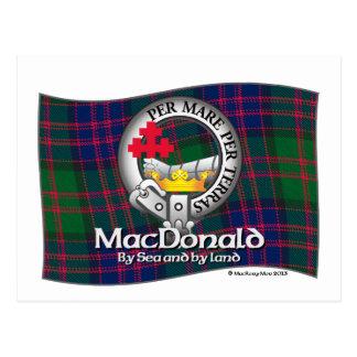 Casquillo del clan de MacDonald Tarjeta Postal