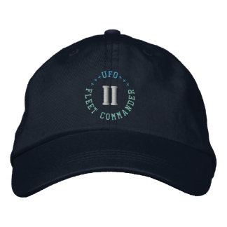 Casquillo del COMANDANTE de la FLOTA del UFO Gorra De Beisbol Bordada